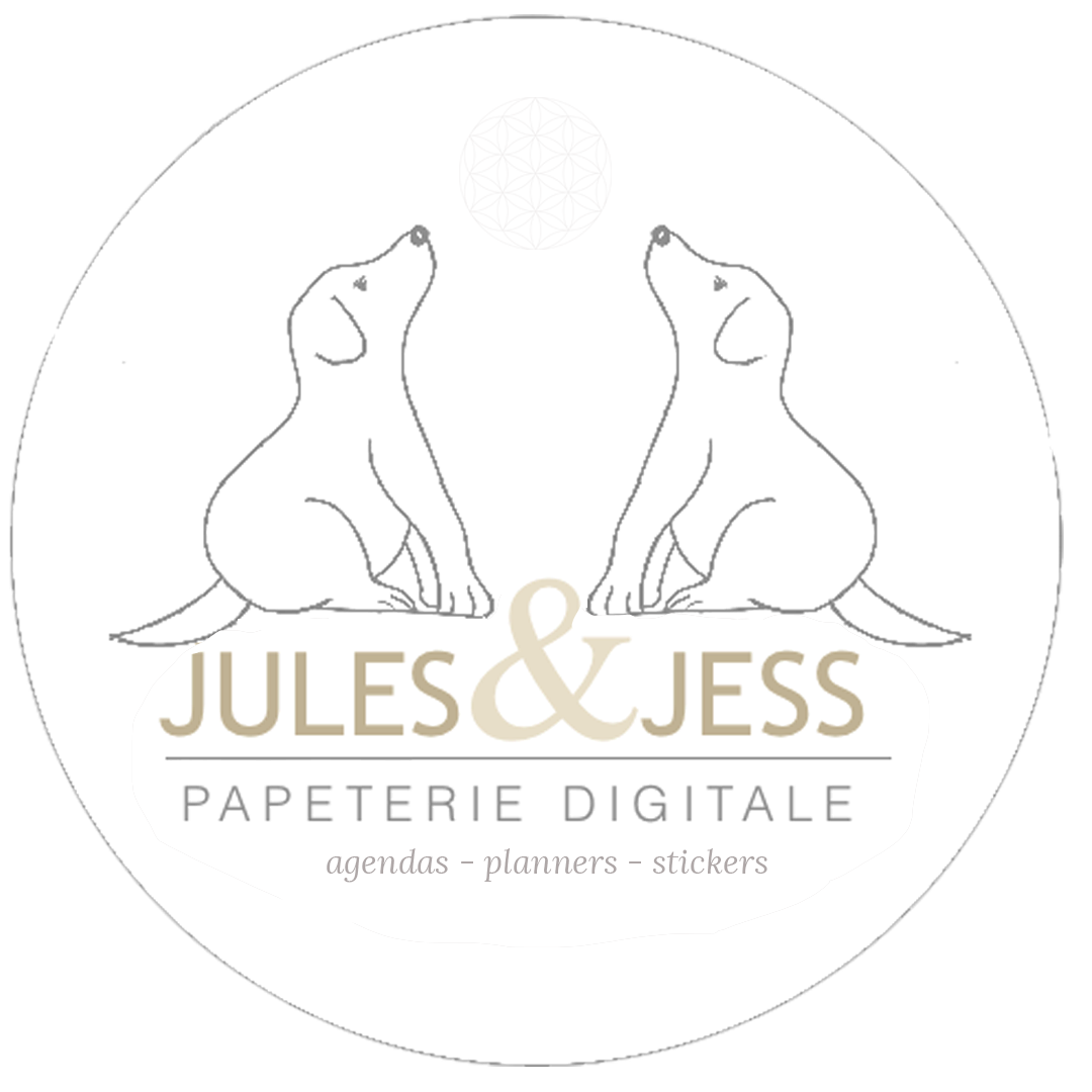 Jules et Jess Agenda papeterie digitale
